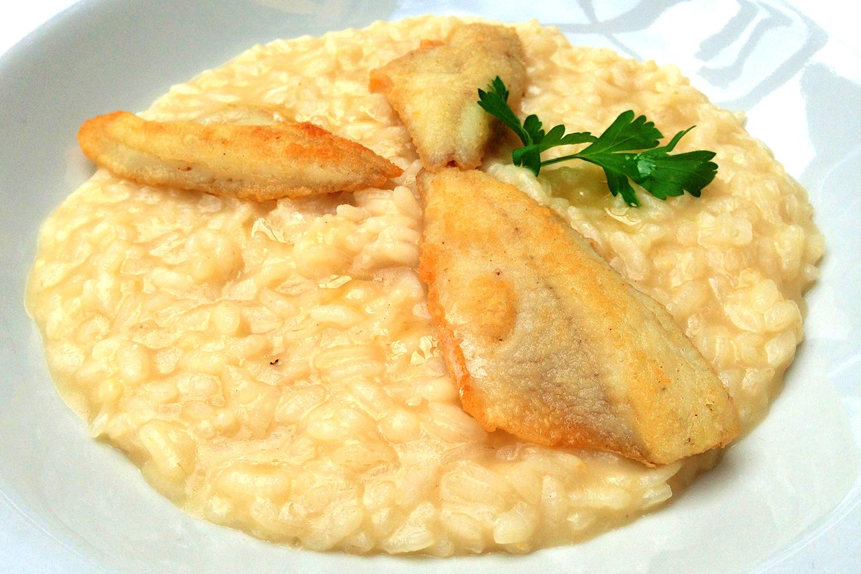 Risotto pesce persico for Pesce chicco di riso