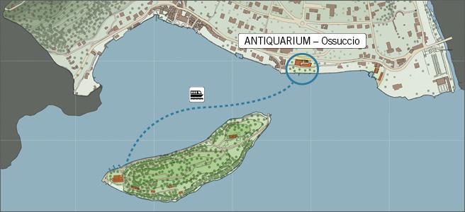 antiquarium a Ossuccio e Isola comacina