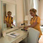 Giovanna chambermaid at Hotel Posta
