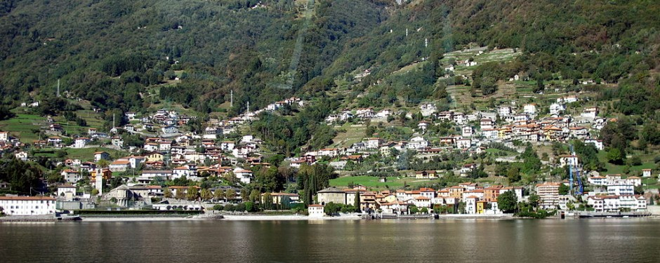 giro del lago di Como in bici: Dongo