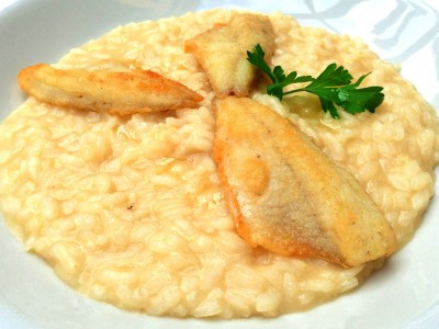 Risotto with perch Hotel Posta Moltrasio