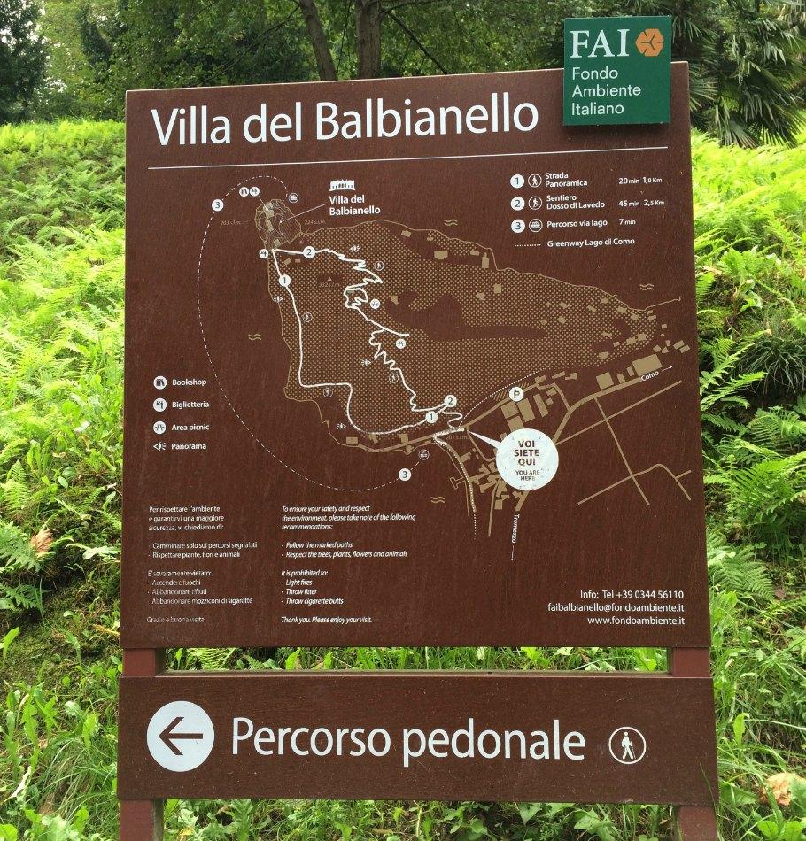 Percorso Fai Villa Balbianello