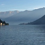 Summer: a relaxing day on the Como lake, beaches and taxi boats