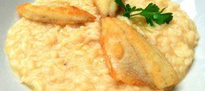 risotto con pesce persico lago di como
