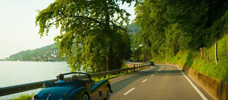 auto d'epoca sul lago di Como